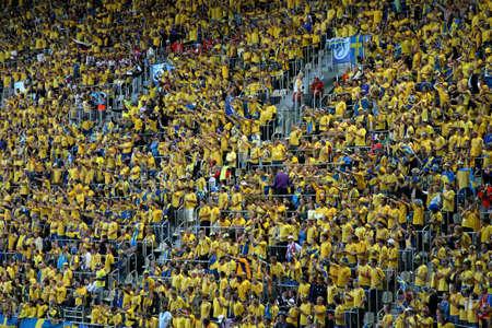 innsbruck: Stadium in Innsbruck. Match Russia - Sweden. Tyrol. Austria Editorial