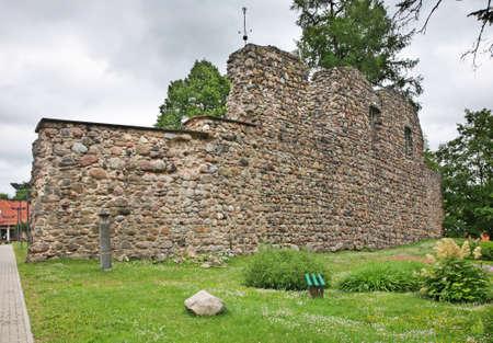 Valmiera castle ruins. Latvia Stock Photo