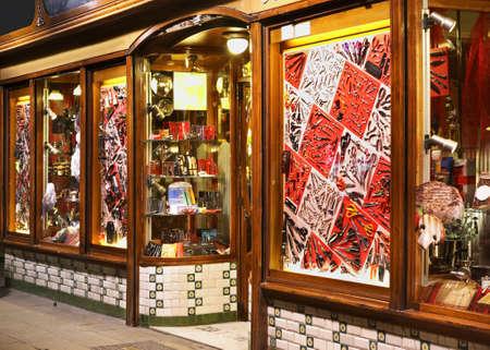 Old street in Barcelona. Spain Editorial