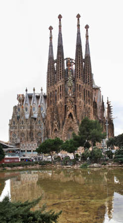 sagrada: Basilica and Expiatory Church of Holy Family in Barcelona. Spain