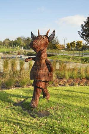 statuary: Koziolek Matolek in Pacanow village - European capital of fable. Poland
