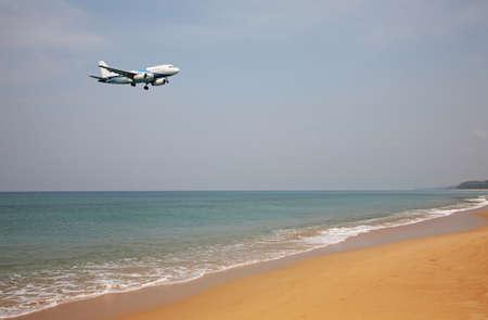 Andaman sea near Phuket International Airport. Thailand