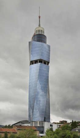 sarajevo: Avaz Twist Tower in Sarajevo. Bosnia and Herzegovina