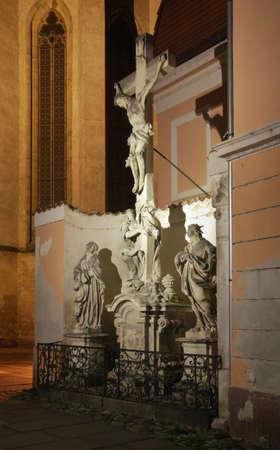 ceske: Church of Presentation of Blessed Virgin Mary in Ceske Budejovice. Czech Republic