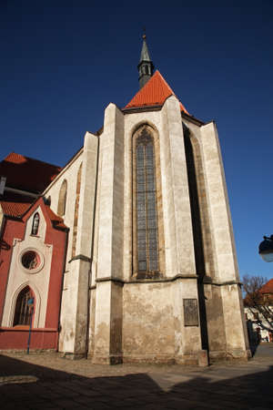 budejovice: Church of Presentation of Blessed Virgin Mary in Ceske Budejovice. Czech Republic