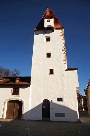 ceske: Rabstejnska tower in Ceske Budejovice. Czech Republic
