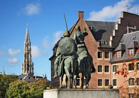 Monument to Don Quixote in Brussels. Belgium Stock Photo