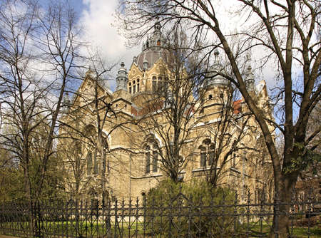 szeged: Synagogue in Szeged. Hungary