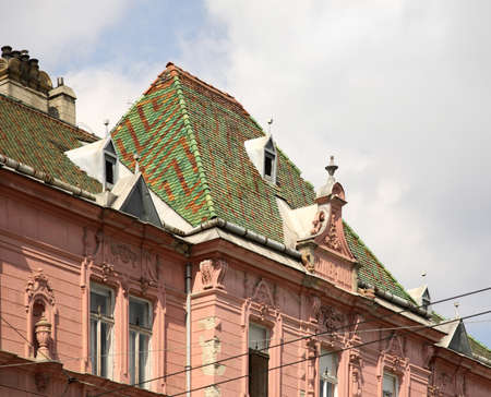 Fragment of old building in Szeged. Hungary