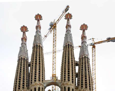 Basílica i Temple Expiatori de la Sagrada Família in Barctlona. Spain Stock Photo