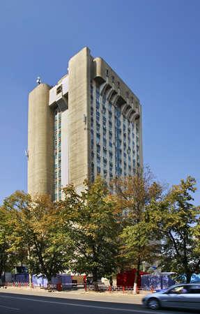 Avenue of Stephen the Great in Kishinev. Moldova Editorial