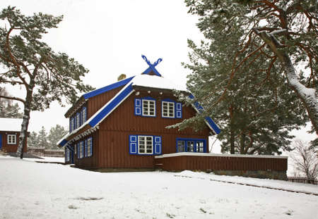 mann: Summer house of Thomas Mann in Nida. Lithuania Stock Photo