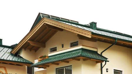 Fragment of House in Mayrhofen. Austria