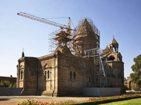 Vagharshapat. Etchmiadzin Cathedral in Etchmiadzin monastery. Armenia