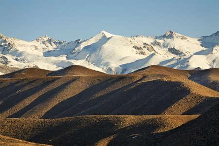 ata: Kungoy Ala-Too ridge. Kyrgyzstan Stock Photo