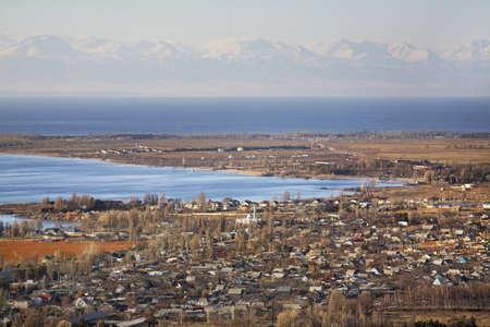 ata: View of Cholpon-Ata. Kyrgyzstan