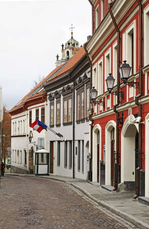 john the baptist: Old street in Vilnius. Lithuania