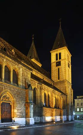 sarajevo: Heart of Jesus Cathedral in Sarajevo. Bosnia and Herzegovina Stock Photo