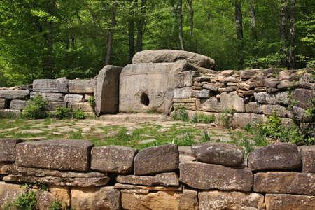 Dolmen Ecumenical - megalithic tomb near Vozrozhdenie village and Gelendzhik town. Krasnodar Krai. Russia
