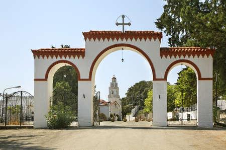 tsambika: Church of Our Lady Stock Photo