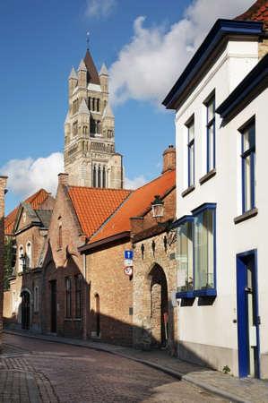 salvator: Cathedral Salvator in Bruges. Belgium Editorial
