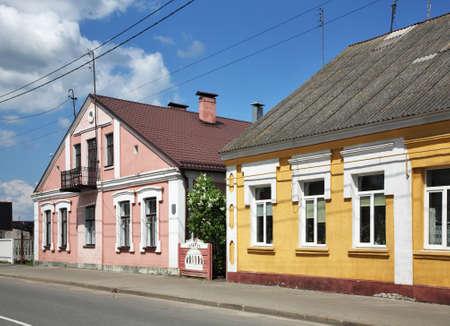 Pervomaiskaya street in Kobryn. Brest Region. Belarus Stock Photo
