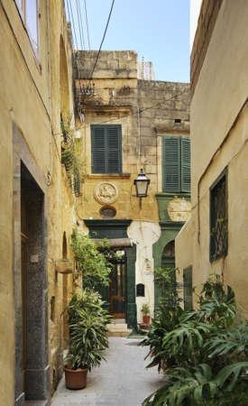 Old street in Victoria. Gozo island. Malta