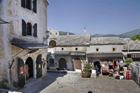 former yugoslavia: Old town of Mostar. Bosnia and Herzegovina