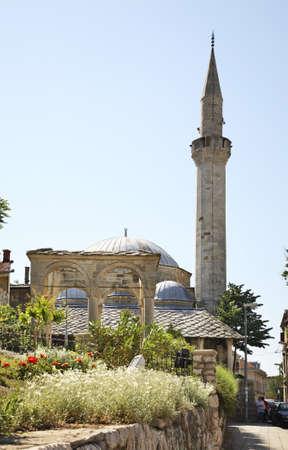 former yugoslavia: Mosque of Mostar. Bosnia and Herzegovina