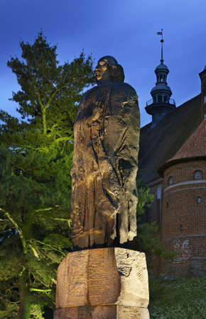 Monument to Nicolaus Copernicus at Cathedral hill in Frombork. Poland