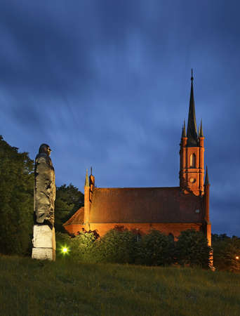 Monument to Nicolaus Copernicus Wojciech in Frombork. Poland Editorial