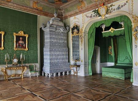 rundale: Rundale Palace near Pilsrundale. Golden hall. Latvia Editorial