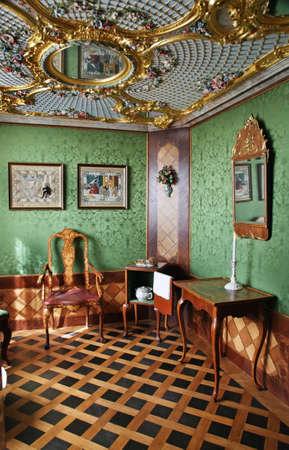 Rundale Palace near Pilsrundale. Golden hall. Latvia Editorial