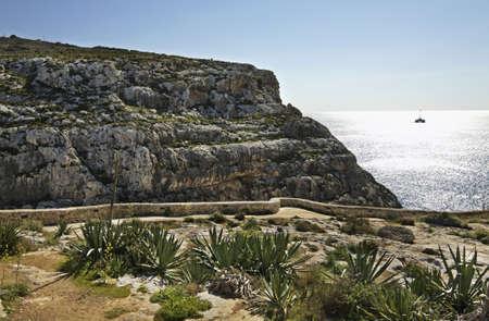 Mediterranean Sea near Zurrieq. Malta Stock Photo