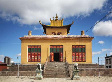 울란바토르의 Gandantegchinlen 수도원. 몽골리아