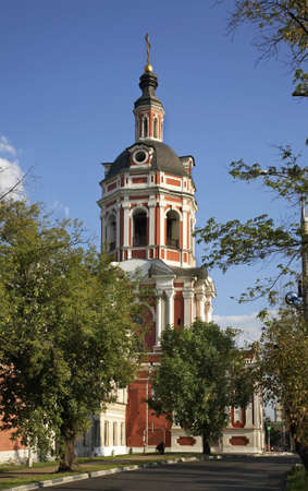 Church of Zechariah and Elizabeth under the bell tower in Moscow. Russia