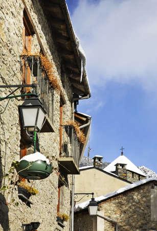 Old town in Andorra la Vella. Andorra