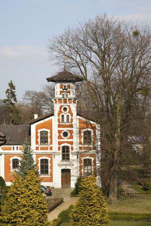 Villa of Edward Herbst in Lodz. Poland Stock Photo