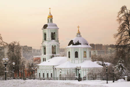 Church of Blessed Virgin Mary at Tsaritsyno park in Moscow. Russia