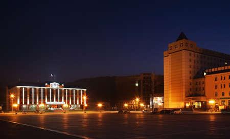 Lenin square in Gorno-Altaysk. Altai Republic. Russia