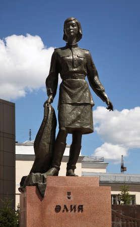 Monument to Aliya Moldagulova in Astana. Kazakhstan