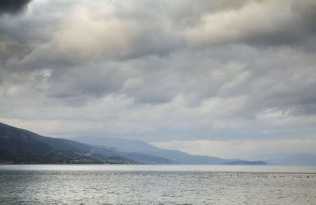 Ohrid lake in Pogradec. Albania