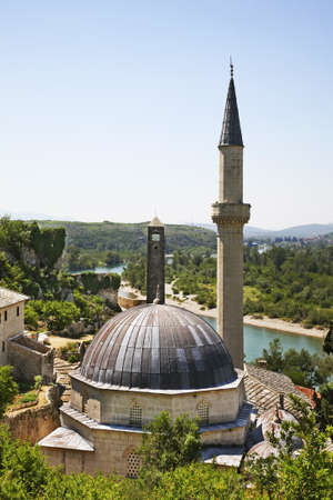 Hajji Alija mosque in Pocitelj. Bosnia and Herzegovina