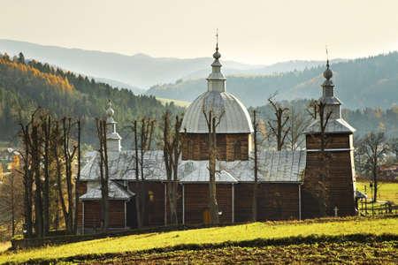 Church of St. Dmitri in Zlockie village. Muszyna district. Poland