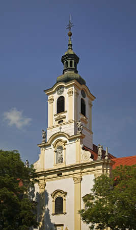Monastery and church of Merciful Brothers in Bratislava. Slovakia 免版税图像
