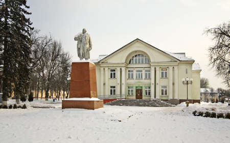 Main square in Vawkavysk. Belarus