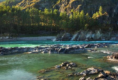 Katun river near Chemal village. Altai Republic. Russia