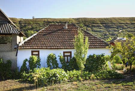View of  Trebujeni village. Moldova Stock Photo