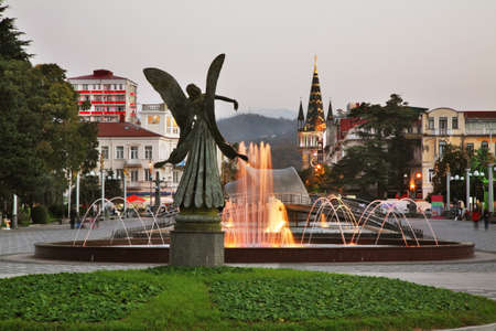 Light-musical fountain in Batumi. Autonomous Republic of Adjara. Georgia