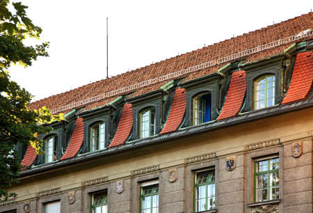 Fragment of building in Innsbruck. Tyrol. Austria Stock Photo